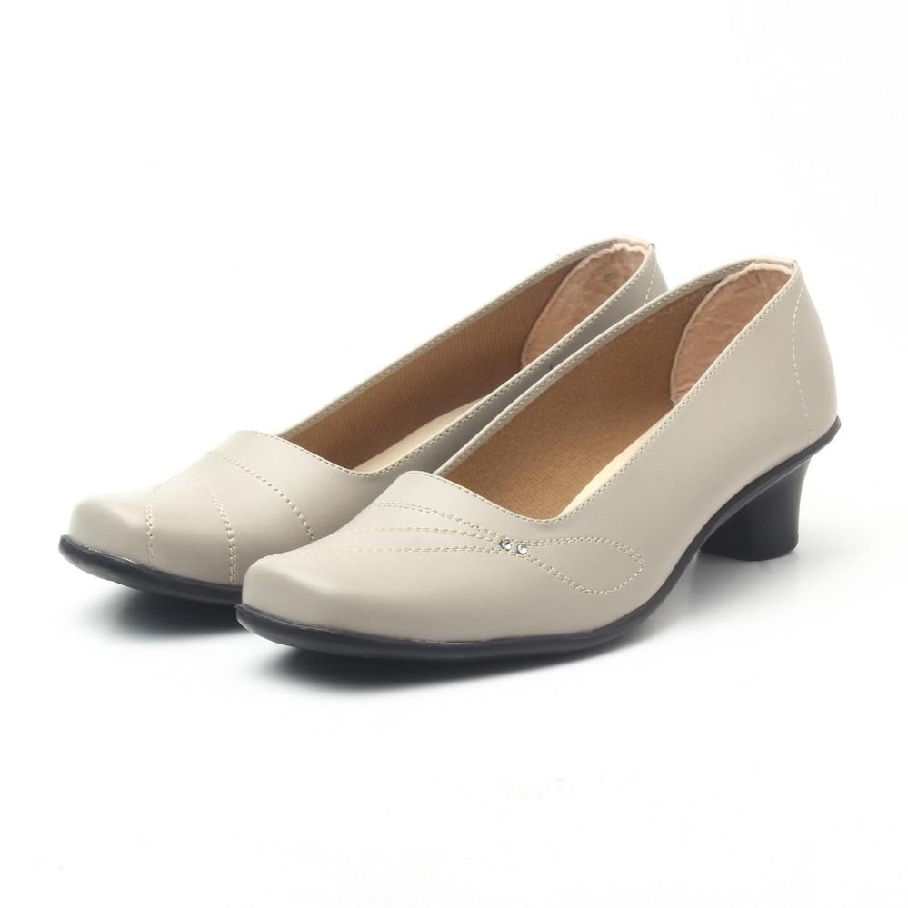 Salvora sepatu formal wanita / sepatu wanita / sepatu wanita murah / sepatu kerja wanita / sepatu kerja wanita pantofel 5cmD-Krem
