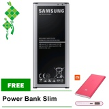 Harga Samsung Baterai Galaxy Note 4 Sm N910 3220Mah Free Power Bank Slim New