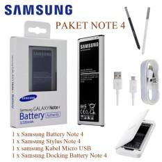Samsung Baterai Galaxy Note 4 + Stylus Pen G.Note 4 + Kabel Data Micro USB G. Note 4 +  Desktop / E