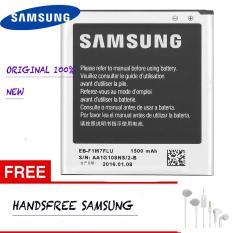 Samsung Baterai S3 Mini GT-I8190 / Battery S3 Mini GT-I8160 / Batere Ace2 EB-F1M7FLU + Free Handsfree Samsung Warna Random - Hitam