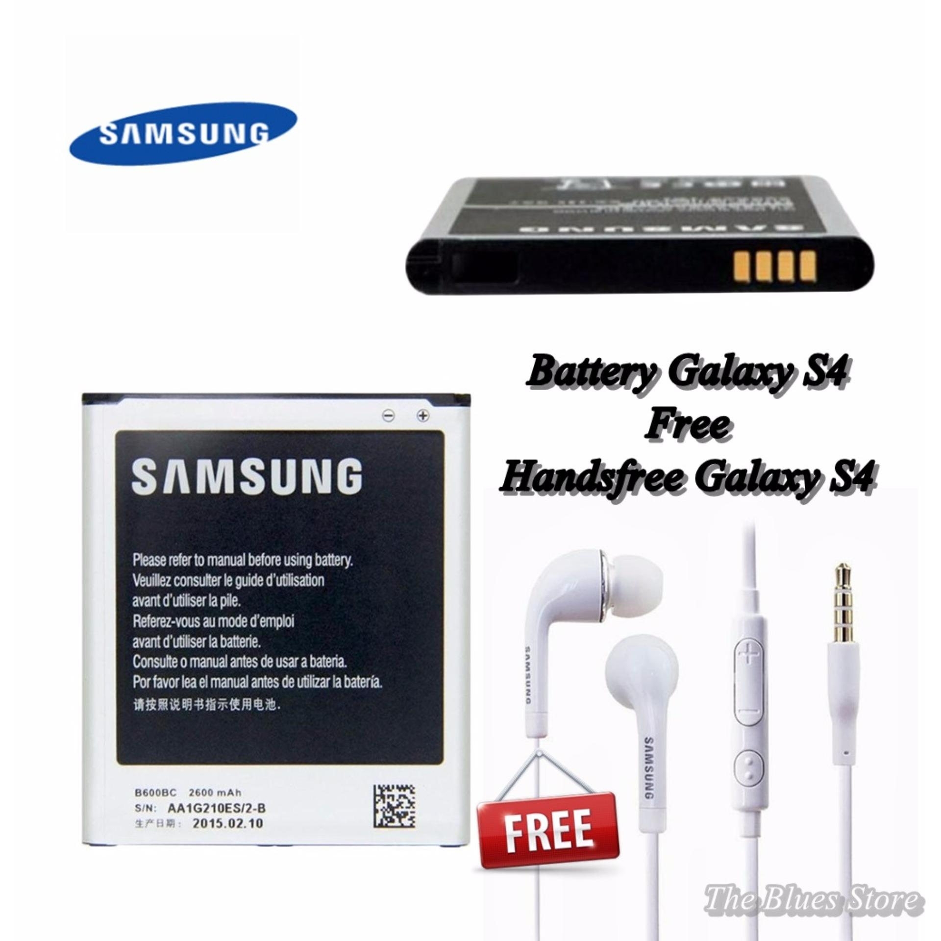 Samsung Battery GT-I9500 For Galaxy S4 2600mAh + Handsfree S4 White - Original