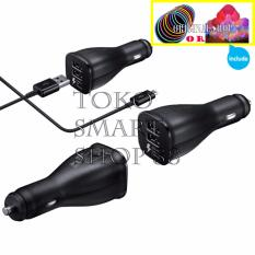 Harga Samsung Car Charger Dual Port Fast Charging Compatible With All Fast Charging Smartphone Hitam Bundling Item Termurah