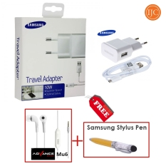 Samsung Charger Travel Adapter 10W Gratis Micro USB Cable + Stylus Pen + Handsfree Advance Mu6