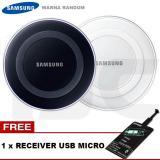 Ongkos Kirim Samsung Charger Wireless Ep Pg9201 For S6 S6 Edge Note 5 Free Qi Receiver Usb Micro Original Random Color White Black Di Dki Jakarta