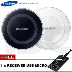 Review Samsung Charger Wireless Ep Pg9201 For S6 S6 Edge Note 5 Free Qi Receiver Usb Micro Original Random Color White Black Terbaru
