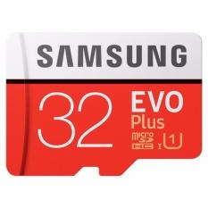 Samsung EVO Plus microSDHC UHS-I Card with SD Adapter 32GB (95MB/s) Class 10 - Merah