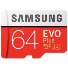 Spesifikasi Samsung Evo Plus Microsdxc Uhs I Card With Adapter 64Gb 100Mb S Class 10 Merah