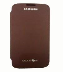 Spek Samsung Flip Cover I9500 S4 Coklat