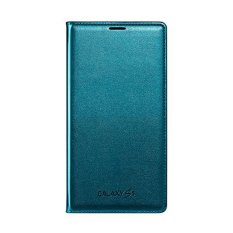 Beli Samsung Flip Wallet Cover For Galaxy S5 Original Biru Nyicil