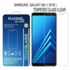 Samsung Galaxy A8+ 2018 (A8 Plus) 2018 Ranmel Tempered Glass Screen Protector - Anti