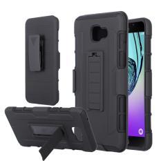 Harga Samsung Galaxy A9 Pro Armor Hybrid Impact Case Belt Clip Holster Stand Hard Cover Black Paling Murah