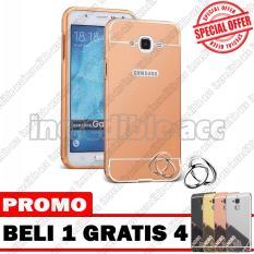 Samsung Galaxy J1 Mini Prime / Galaxy V2 Case Metal Bumper Mirror Beli 1 Gratis 4 Random Warna [BUY 1 GET 4] - Rose Gold