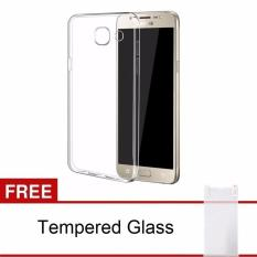 Samsung Galaxy J5 Prime / ON5 (2016) Case Ultra Thin TPU Softcase (Clear) FREE Tempered Glass