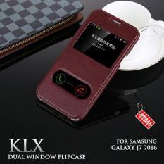Samsung Galaxy J7 2016 Klx Leather Flip Case Flipcase Cover Flipcover