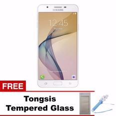 Samsung Galaxy J7 Prime - 32GB - LTE - White Gold + Tongsis & Tempered Glass