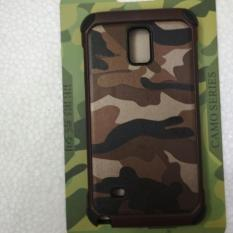 Harga Samsung Galaxy Note 4 Case Army Camoflase Slim Armor Brown Army Seken