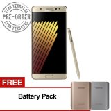 Samsung Galaxy Note 7 64Gb Gold Platinum Gratis Battery Pack Preorder Original