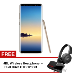 Beli Samsung Galaxy Note8 Maple Gold Free Jbl Wireless Headphone Dual Drive Otg 128Gb Online Indonesia