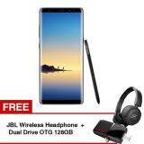 Promo Samsung Galaxy Note8 Midnight Black Free Jbl Wireless Headphone Dual Drive Otg 128Gb