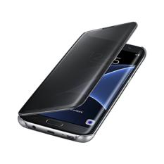 Samsung Galaxy S6 edge Clear S View Flip Cover Case - Hitam