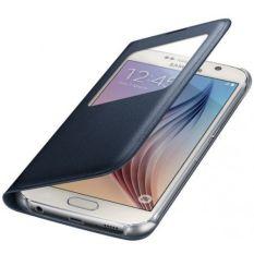Samsung Galaxy S6 S-View Case Flip Cover Boxed EF-CG920PBE - Biru-Hitam