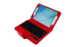 Samsung Galaxy Tab A 8.0 Keyboard Case, CLOUDSEA Folding PU Kulit Folio Case Penutup & Dilepas Nirkabel Bluetooth Keyboard Cover Case untuk Samsung Galaxy Tab A 8.0 SM-T350/P350 Android Tablet (Merah) -Intl