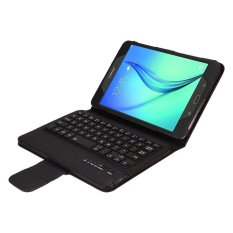 Samsung Galaxy Tab A 8.0 Keyboard Case, CLOUDSEA Folding PU Kulit Folio Case Penutup & Dilepas Nirkabel Bluetooth Keyboard Cover Case untuk Samsung Galaxy Tab A 8.0 SM-T350/P350 Android Tablet (Hitam) -Intl