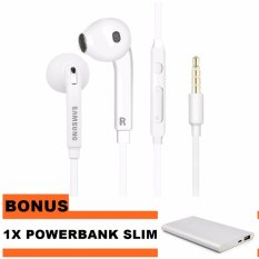 Samsung Headset/Handsfree Samsung S7 And Support All Type Hp + Bonus Powerbank Slim