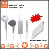 Beli Samsung Headset Handsfree Young Edition Headphone In Ear Powerbank Slim Nyicil
