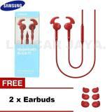 Beli Samsung Headset Headphones Hybrid In Ear Fit Original Gratis Earbuds Merah Samsung