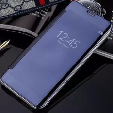 Diskon Samsung J7 Prime Flipcase Flip Mirror Cover S View Transparan Auto Lock Casing Hp Biru Dongker Case Di Dki Jakarta