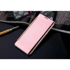Situs Review Samsung J7 Prime Flipcase Flip Mirror Cover S View Transparan Auto Lock Casing Hp Rose Gold