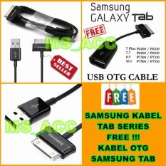 Samsung Kabel Data Galaxy Tab P1000 / P3100 / P5100 / N8000 + Bonus Kabel OTG Samsung Tab Series