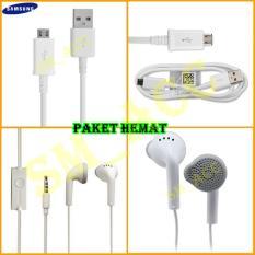 Samsung Kabel Data Micro Usb + Handsfree Samsung [ Promo Paket Hemat ]