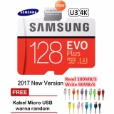 Miliki Segera Samsung Memory Card Microsdxc Evo Plus Class 10 Uhs 3 4K 100Mb S 128Gb With Sd Adapter Kabel Micro Usb Warna Random