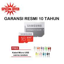 ... Samsung MicroSDHC Evo PLus 16GB 80MB s With Adapter Merah
