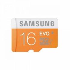 Samsung MicroSDHC EVO UHS-I Class 10 - 16GB - Orange