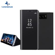 Jual Samsung Original Clear View Standing Cover Casing For Galaxy Note 8 Black Black Branded Murah