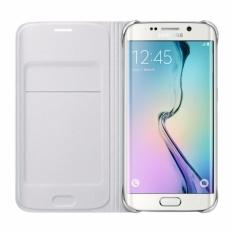 Jual Samsung Original Flip Wallet White Cover Case For Galaxy S6 Edge Lengkap