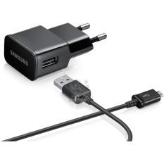 Samsung Original Travel Adapter Charger Samsung 10.6W 2Ampere Dengan Kabel Micro USB Original - Black