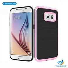 Samsung S7 Sisi Case, Galaksi S7 Sisi Case, topgreat Las Seri Tekstur Halus Wiredrawing Texture Ramping Hibrida Ganda Anti Guncangan Jatuh Pelindung Case untuk Samsung Galaksi S7 Sisi- internasional