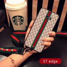 Samsung S9/S9/S6EDGE/S7/S8 Eropa atau Amerika Serikat Angin With Tali Gantungan Leher Halter cangkang Selubung Ponsel