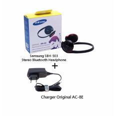 Harga Samsung Sbh 503 Stereo Bluetooth Headphone Hitam Charger Original Ac 8E Online