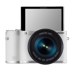 SAMSUNG SMART Digital Kamera 20,3 Megapiksel 50 Zoom Optik NX300M + 18-55mm Lensa-(putih) -Internasional
