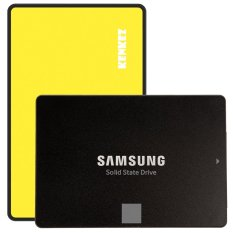 Samsung SSD 850 EVO 250GB with SSD External Case USB 3.0 Super High Speed - Kuning