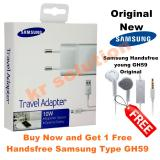 Toko Samsung Travel Adapter Charger 10W Orriginal Kabel Micro Usb Gratis Handsfree Samsung Gh59 Jack 3 5Mm Putih Online Di Dki Jakarta