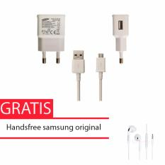 Samsung Travel Adapter Charger Micro Usb Cable 10W Original Putih Samsung Handsfree For S6 Edge And Note 5 Samsung Diskon 30
