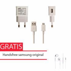 Toko Samsung Travel Adapter Charger Micro Usb Cable 10W Original Putih Samsung Handsfree For S6 Edge And Note 5 Lengkap Dki Jakarta