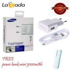 Beli Samsung Travel Adapter Charger Usb Cable 10W Original White Power Bank Mini 5000Mah Baru