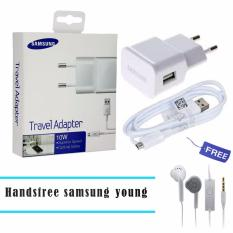 Diskon Samsung Travel Adapter Charger Usb Cable 10W Original White Samsung Handsfree Headset Earphone For S6310 5360 Putih Akhir Tahun